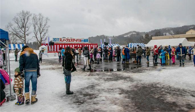 スノーフェスティバル in 越路 ステージ
