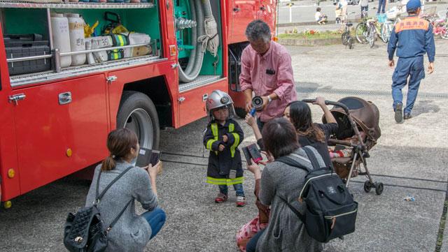 ぼくも将来、消防士?