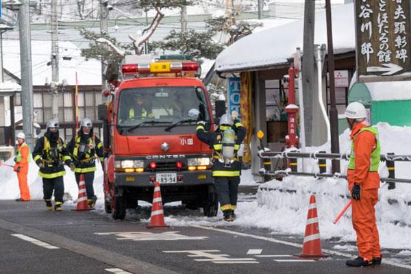 消防車到着