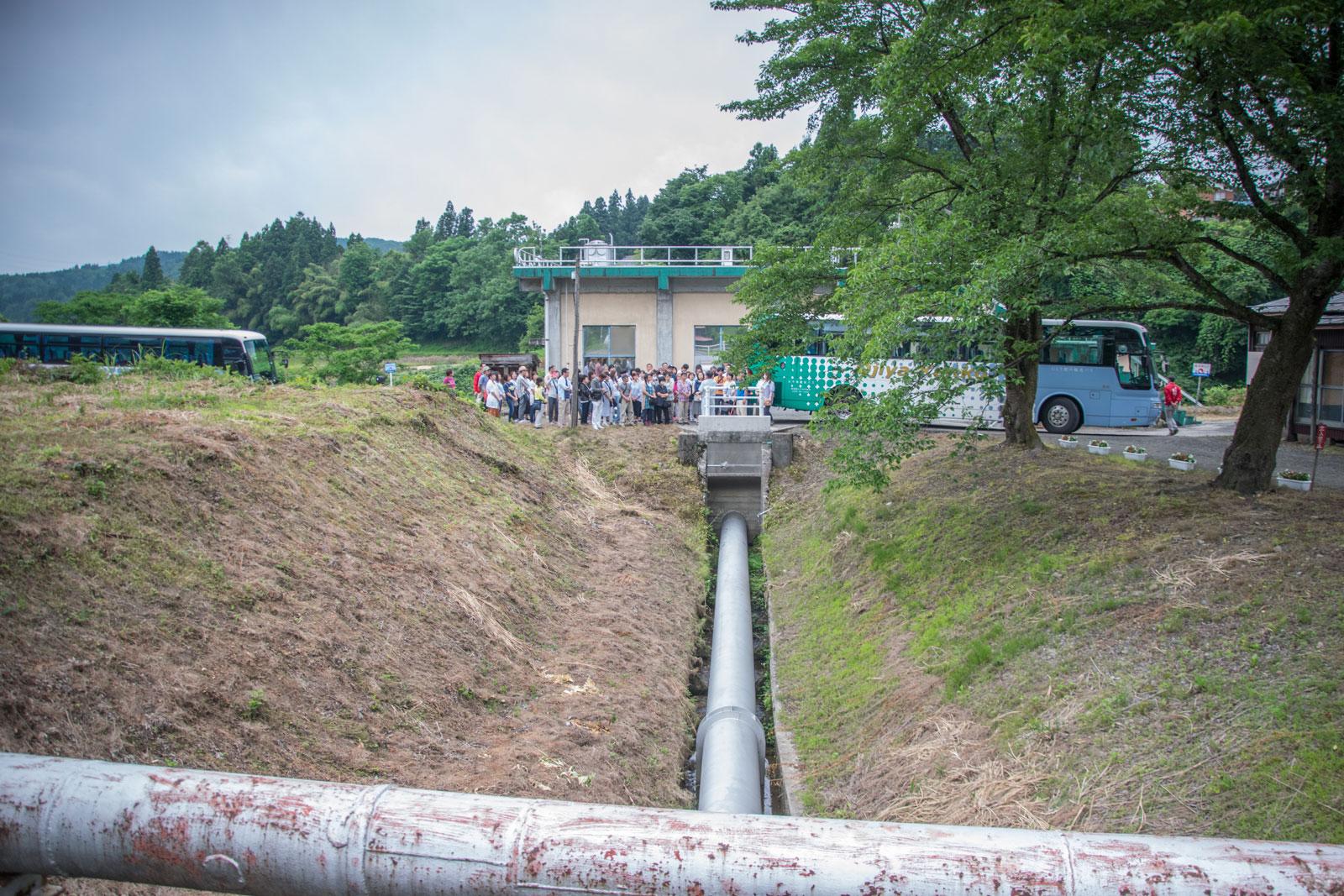 越路原農業揚水配管