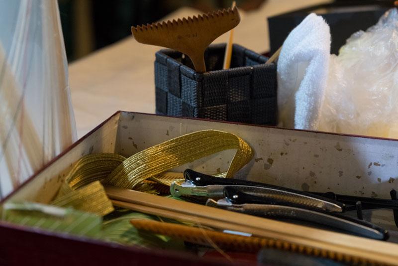 髪結いの道具、櫛
