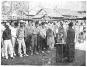越路町民駅伝大会 昭和43年 開会式