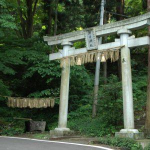 朝日神社 湧き水