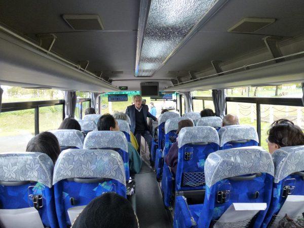 バスの中 こしじの魅力探訪 バスツアー