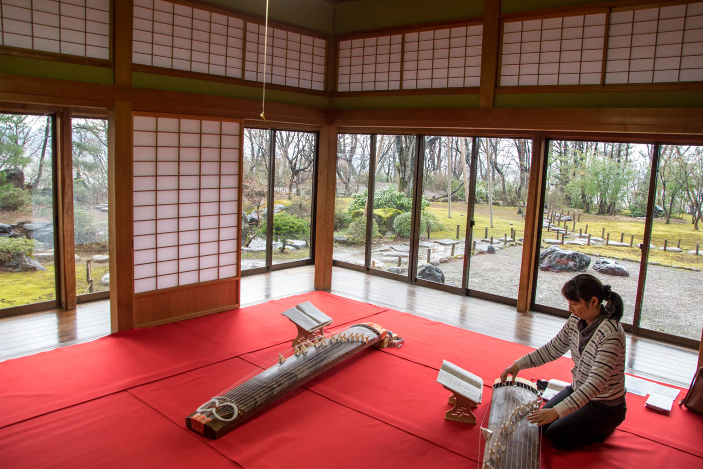 巴ヶ丘観桜会 和楽器「琴」体験コーナー