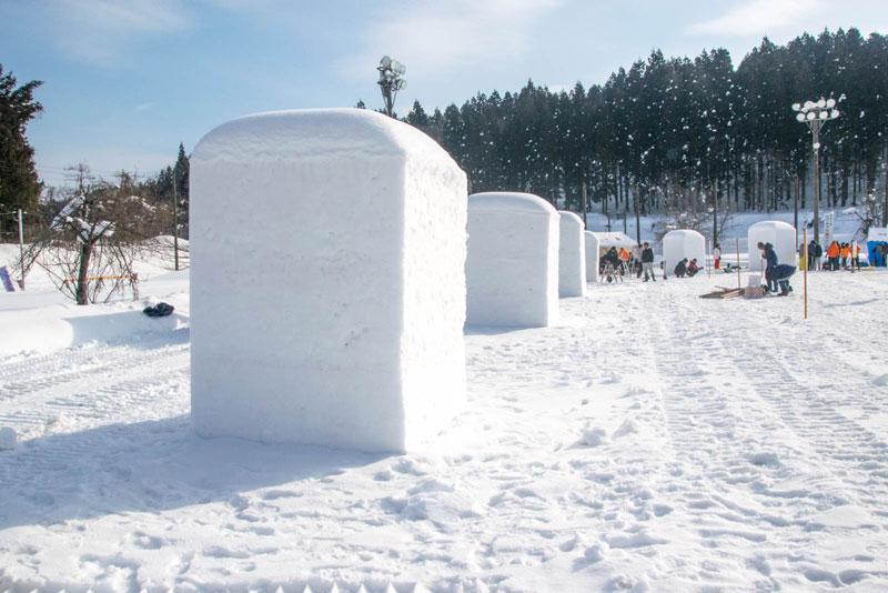 最初の雪のブロック