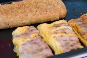 豚玉キャベツ、栃尾の油揚げ