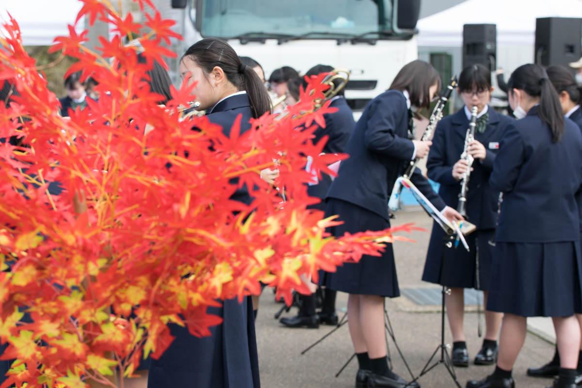 越路中学校吹奏楽部 練習中